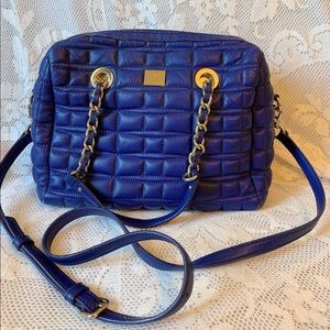 Kate spade blue quilted crossbody